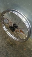 Wheels built in house with stainless rims and spokes